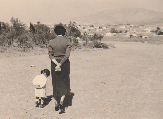 Daphne and Mother in Athens, mid-1950's